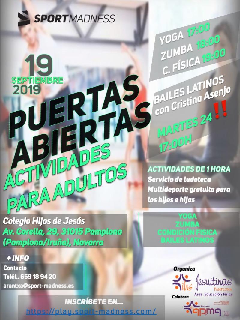 ¡PUERTAS ABIERTAS! Actividades para Adultos, alumnado de Secundaria y Bachillerato