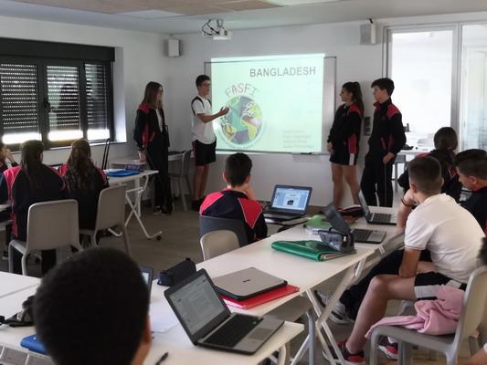 Los alumnos de 3º ESO eligen el Proyecto Solidario de la FASFI para todo el Colegio